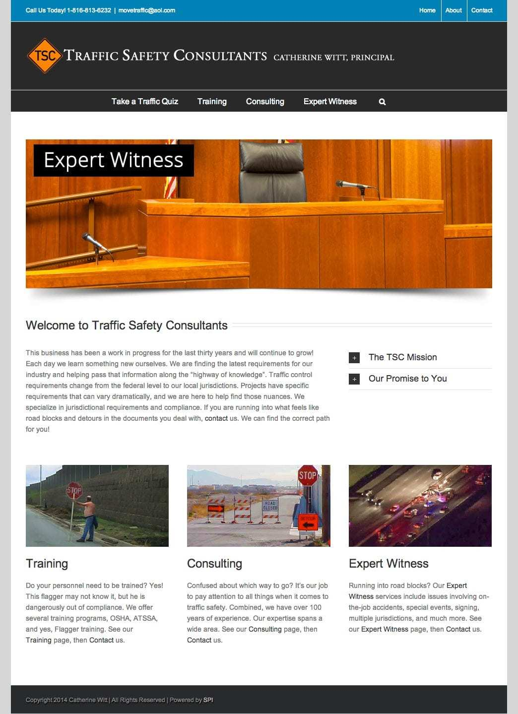 Traffic Safety Consultants homepage